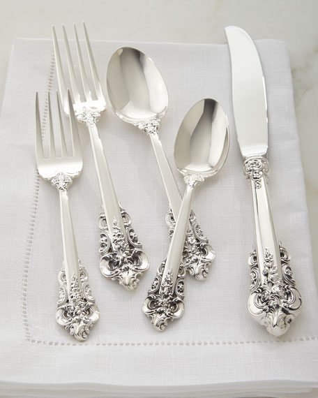 Wallace Silversmiths 5-Piece Grande Baroque Flatware Place