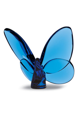 "Baccarat ""Lucky"" Butterfly, Sapphire"