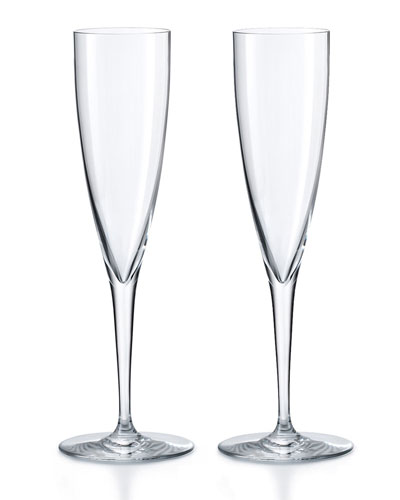 Dom Perignon Champagne Flutes, Set of Two