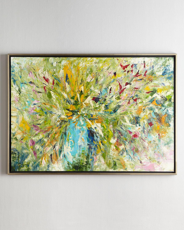 John-Richard Collection Jinlu Original Abstract Painting   Neiman Marcus