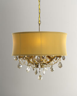 Six-Light Golden Chandelier