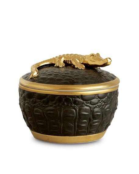 L'Objet Gold Crocodile Candle