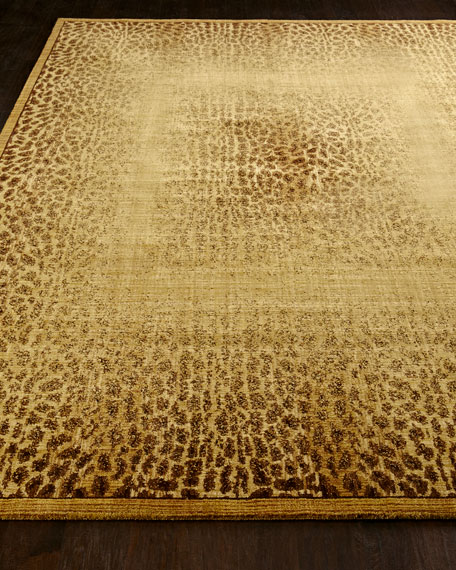 "NourCouture Leopard Shadow Rug, 5'6"" x 7'5"""