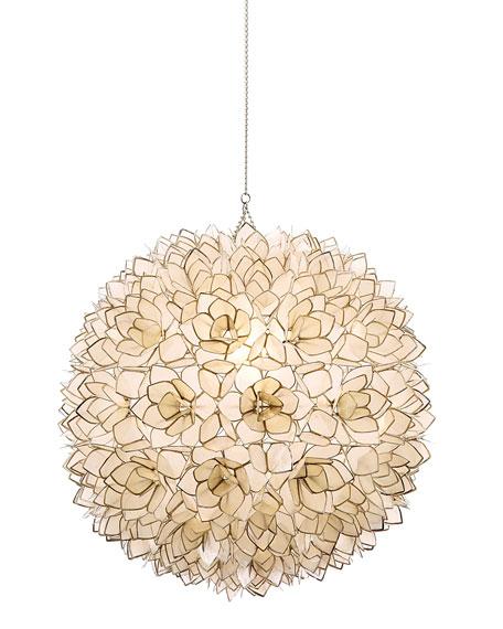 Capiz-Shell 1-Light Pendant