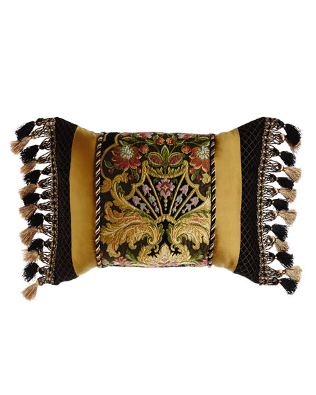 """Austin Horn Collection Pieced Gustone Pillow, 15"""" x 23"""""""