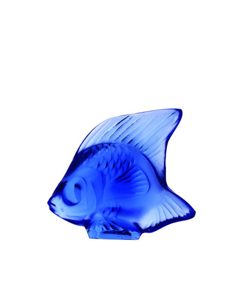 Lalique Blue Sapphire Angelfish Figurine