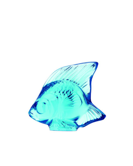 Lalique Pale Blue Fish