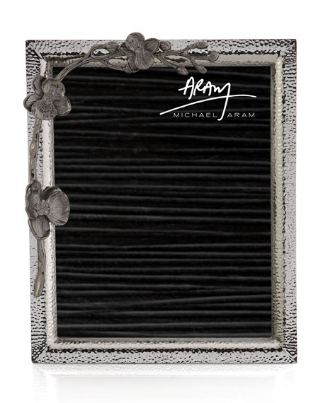 """Black Orchid Picture Frame, 8"""" x 10"""""""
