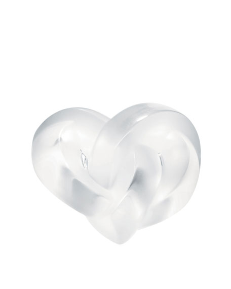 Lalique Clear Heart Paperweight