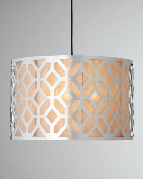 Large Geometric Three-Light Pendant