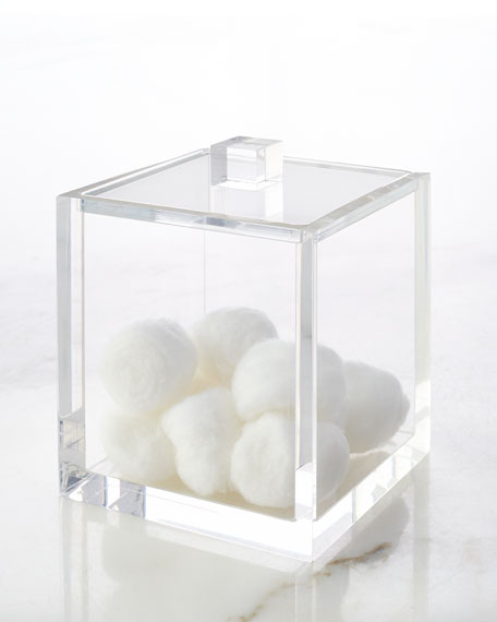 Solid Ice Cotton Ball Container