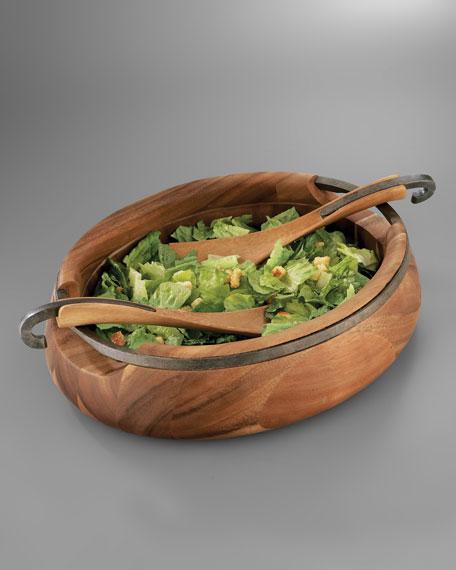 Nambe Anvil Salad Bowl & Servers