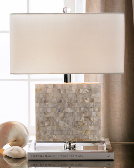 Rectangular Mother-of-Pearl Lamp