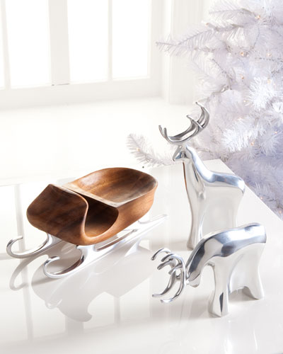 Nambe Sleigh with Reindeer