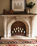 Image 2 of 4: Rope-Edge Fireplace Mantel