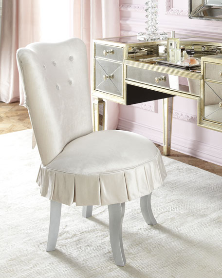 Haute House Shelly Vanity Chair & Amelie Mirrored