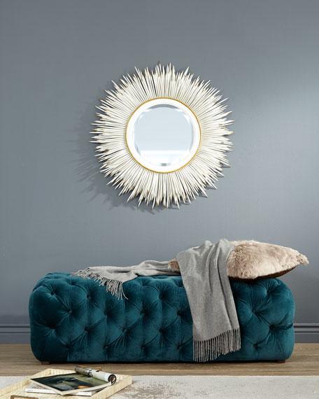 "White ""Porcupine Quill"" Mirror"