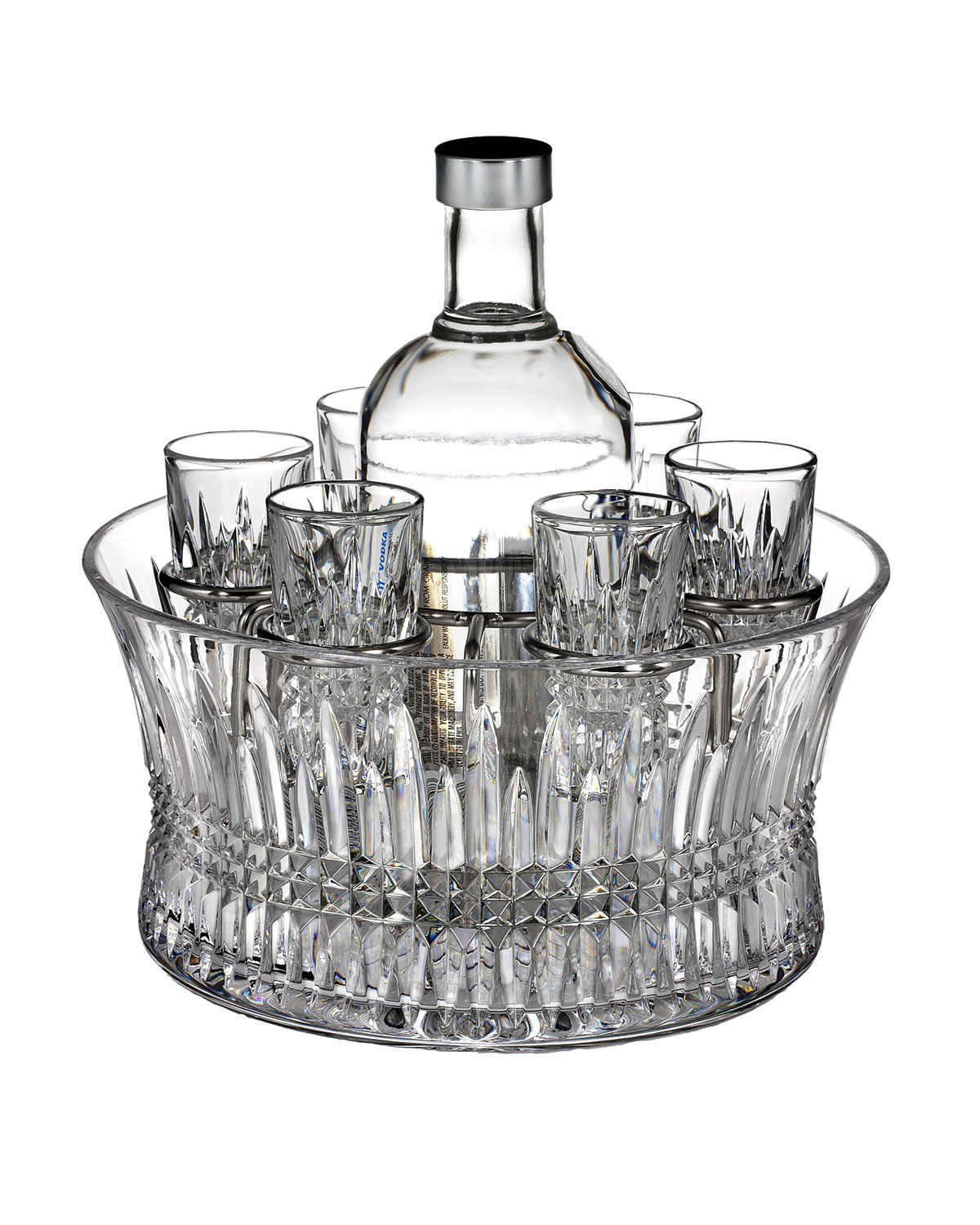 "Waterford Crystal ""Lismore Diamond"" Vodka Set"