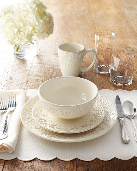 16-Piece Scroll Dinnerware Service