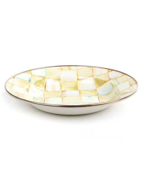 MacKenzie-Childs Parchment Check Breakfast Bowl