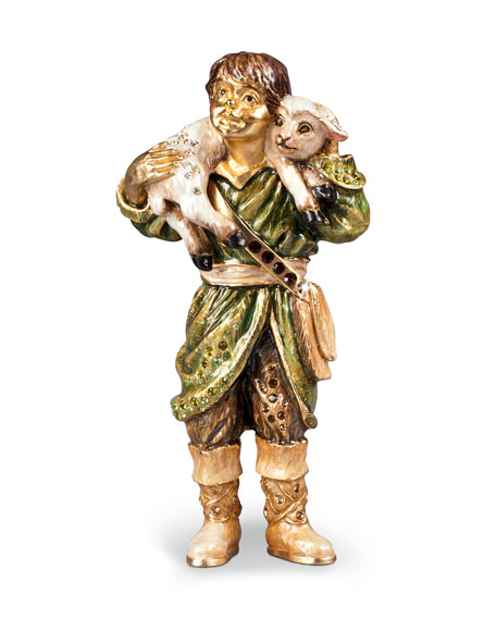 Jay Strongwater Shepherd Boy Figurine