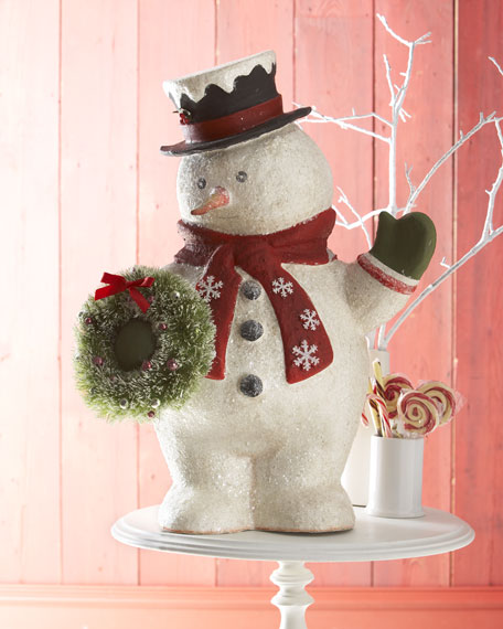 Jolly Snowman Christmas Figurine