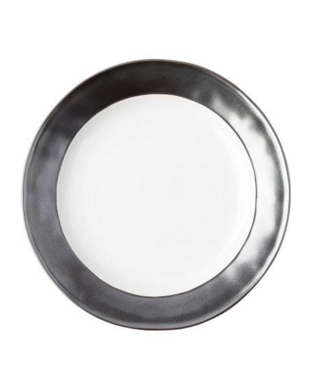 Emerson White/Pewter Dinner Plate