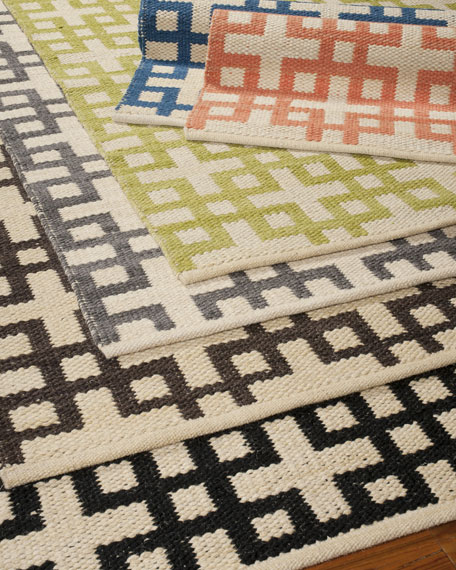 Block Squares Flatweave Rug & Matching Items