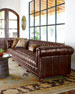 "Executive 131.5""L Chesterfield Sofa"