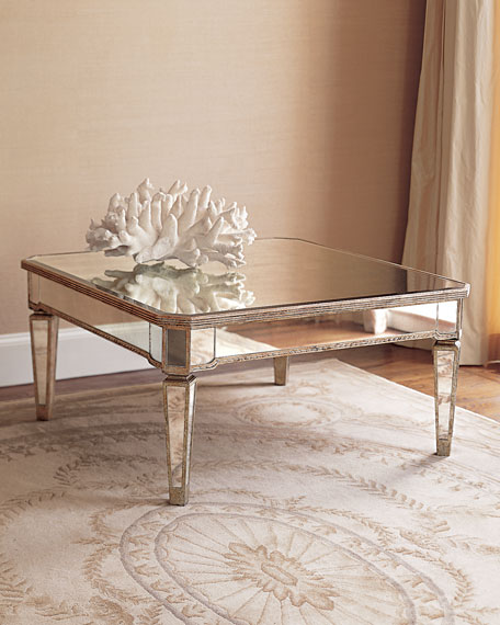 Image 2 of 3: Amelie Mirrored Coffee Table