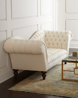 "NM EXCLUSIVE ""Ellsworth"" Neutral Recamier Sofa"