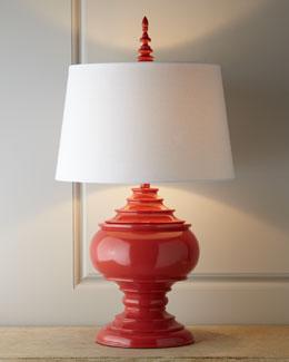 "Red ""Burma"" Lamp"