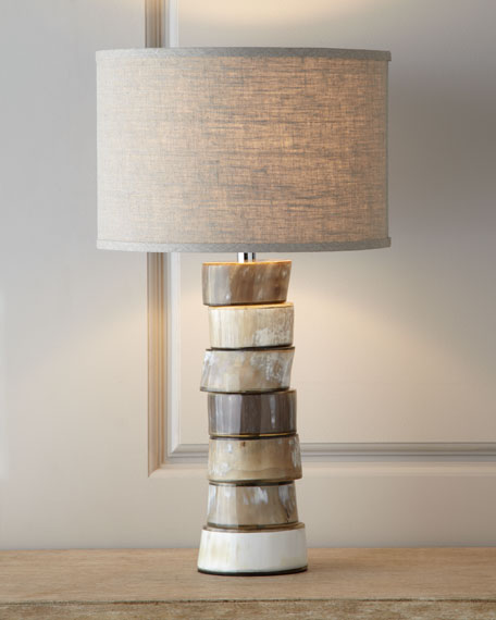 Jamie young stacked horn table lamp neiman marcus
