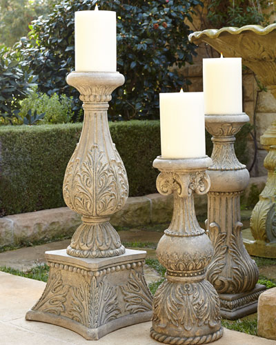 36T Cast-Stone Candlestick