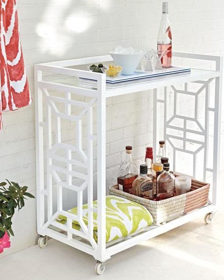 Tamsin Chinoiserie Bar Cart