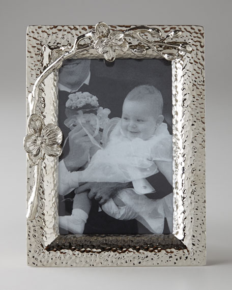 """White Orchid 4"""" x 6"""" Photo Frame"""