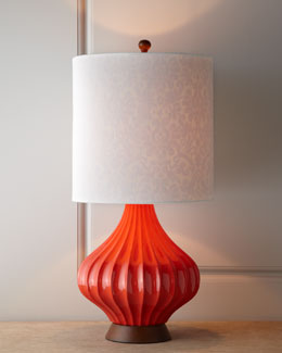 Couture Lamps Tangerine Fairfax Table Lamp