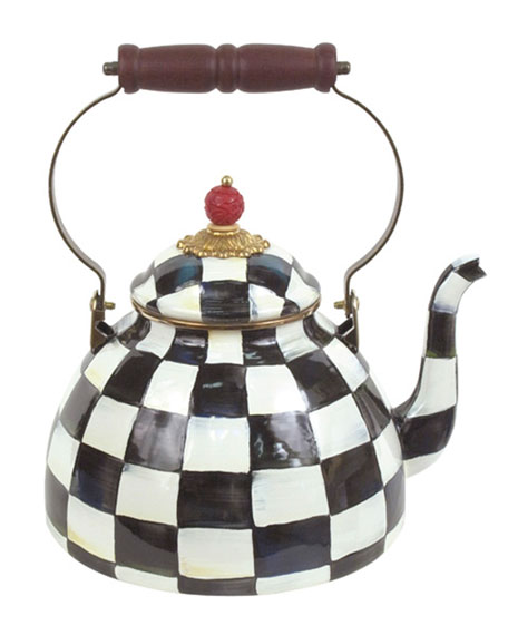 MacKenzie-Childs Courtly Check Three-Quart Tea Kettle