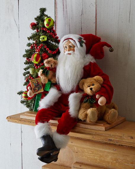 Bear Hugging Santa