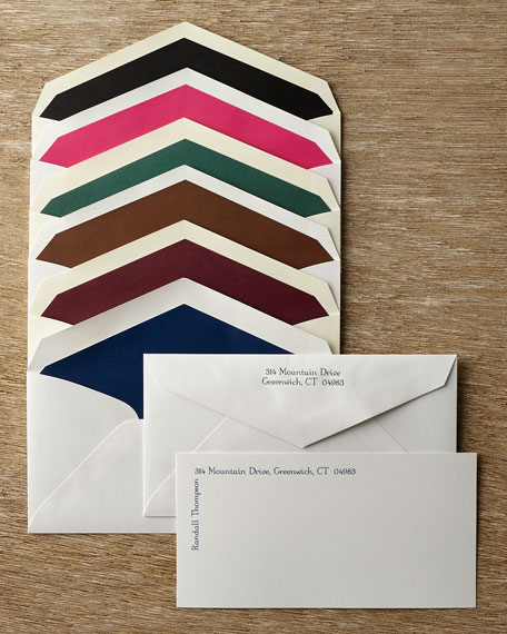 Add Lining to 50 Envelopes