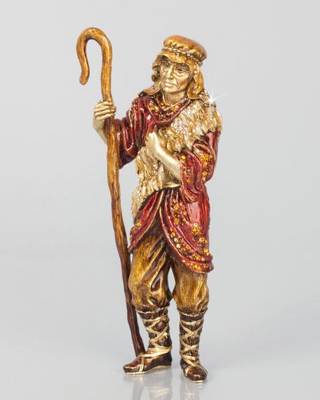 Jay Strongwater Shepherd Man Figurine