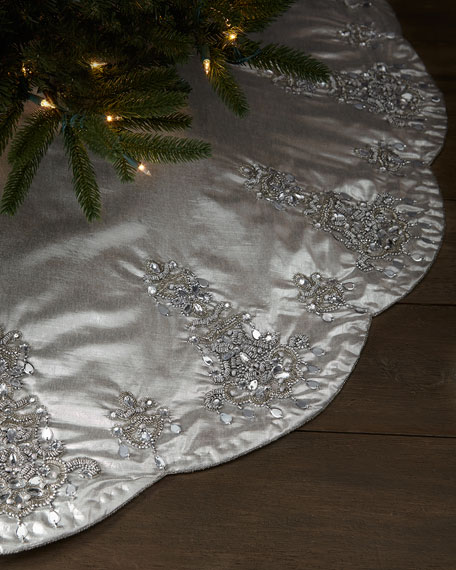 Kim seybert chandelier christmas tree skirt chandelier christmas tree skirt aloadofball