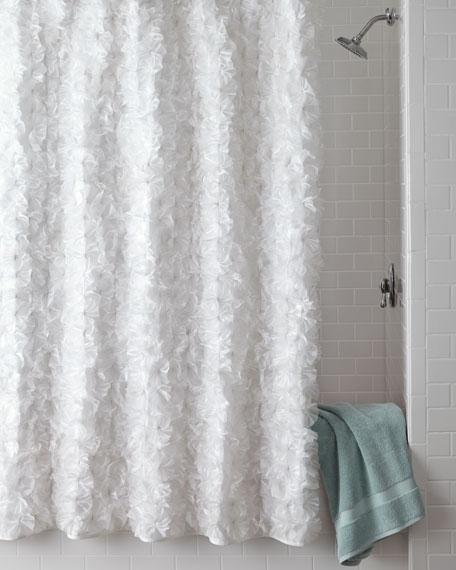 Home Silks White Flower Power Shower Curtain