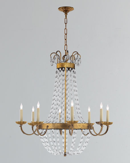 Chapman & Myers Paris Flea Market Large 8-Light  Chandelier