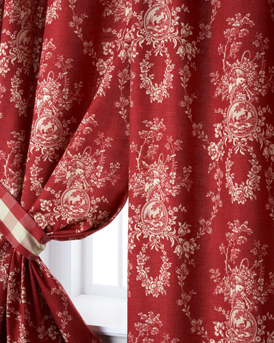Two French Country Curtains  52W x 96L