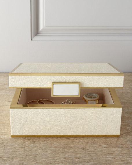 Small Faux-Shagreen Jewelry Box