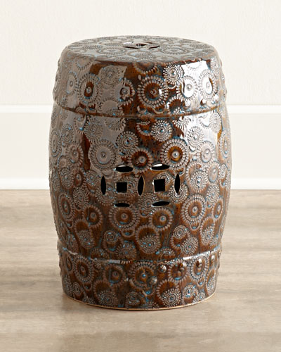 Bronze Porcelain Garden Seat