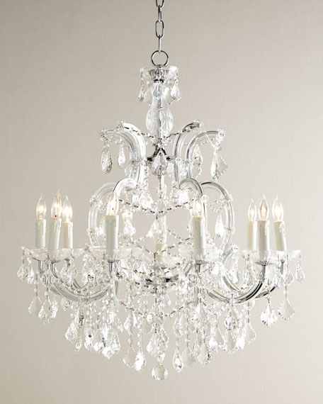 Eloise 10-Light Chandelier & Black Shade