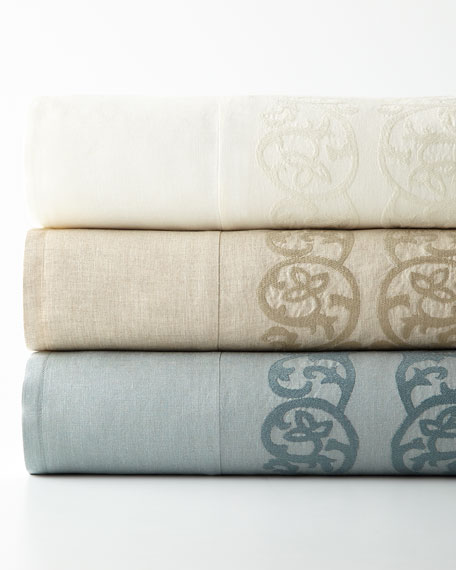Queen Allegra Duvet Cover with Embroidered Insets