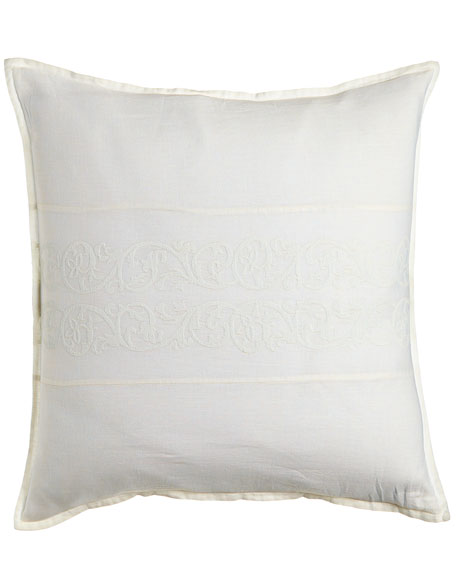 Allegra European Sham with Embroidered Inset